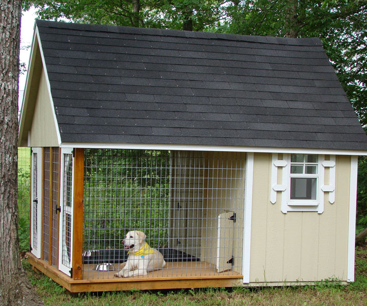 Rent to own storage buildings sheds barns lawn for Niche exterieur chien