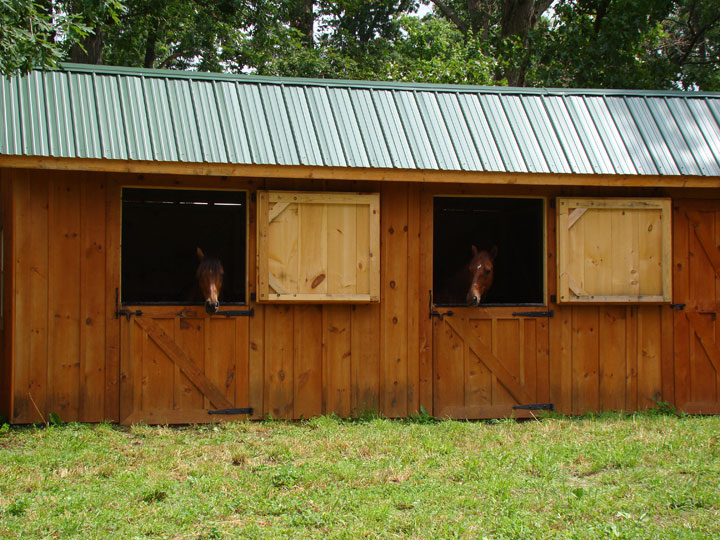 Bobbs small horse pole barn plans for Small horse barn plans