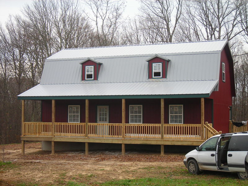 Rent to own storage buildings sheds barns lawn for Custom barn homes