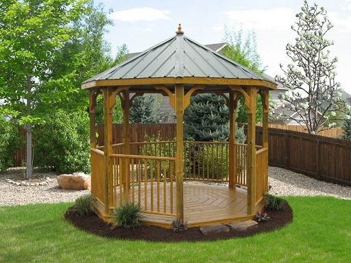 Wood Octagon Gazebo Picture