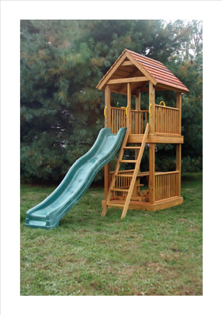A 4u0027 X 5u0027 Tower With A 5u0027 Floor Height. Includes Picnic Table With Benches,  Ladder, Slide, Safety Handles, Steering Wheel, And Telescope. Part 32