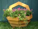 wood flower basket