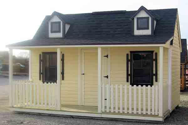 Side Porch Vinyl Playhouse Picture