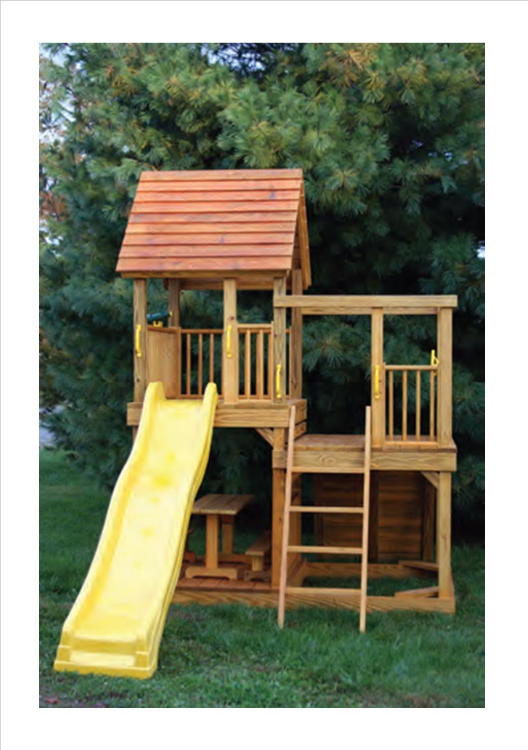 A 5u0027 X 8u0027 Split Level Tower With Both 4u0027 And 5u0027 Floor Heights One Side Of  Base Has A Sandbox, And The Other Side Includes A Picnic Table With Benches. Part 30
